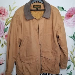 Timberland jacket with removeable liner leather tr